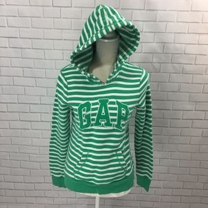 Green and White GAP Hoodie